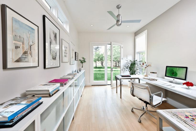 Oficina neutral contemporáneo - Crear diferentes áreas que alcanzan diferentes tareas.