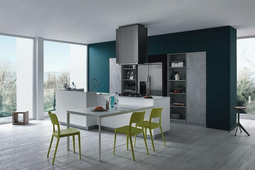 Funktionelle und modische Küche gibt Minimalism einen Casual Twist!