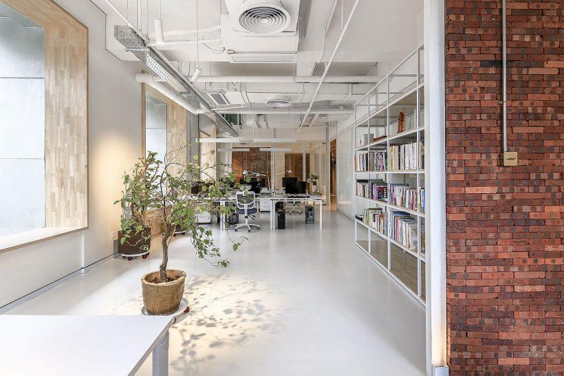 Цегляні і природна Зелень Доведіть свіжість цього китайського офісу