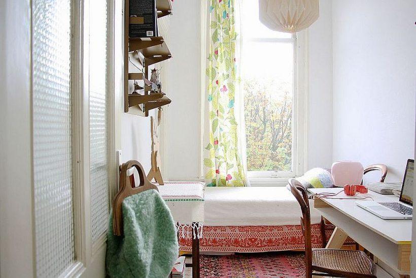 Luminosa habitación con estilo shabby chic