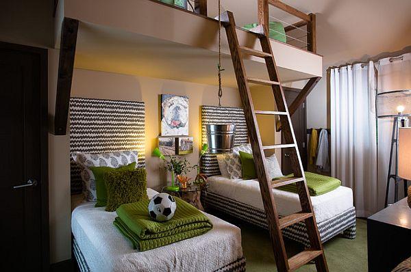 diseño verde habitación de los niños temáticas