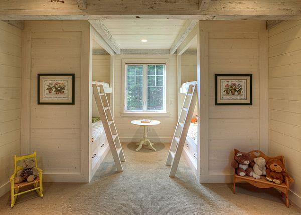 habitación de los niños tradicional con literas