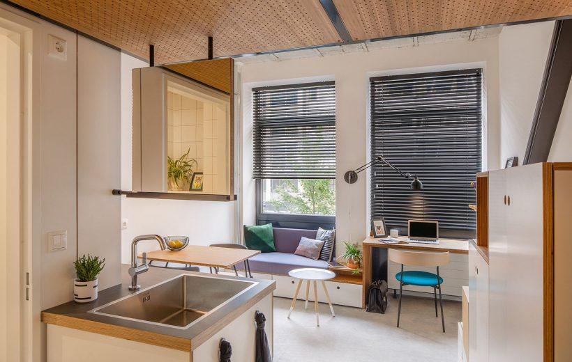 18 apartamentos metro cuadrado en blanco con diseño de ahorro de espacio