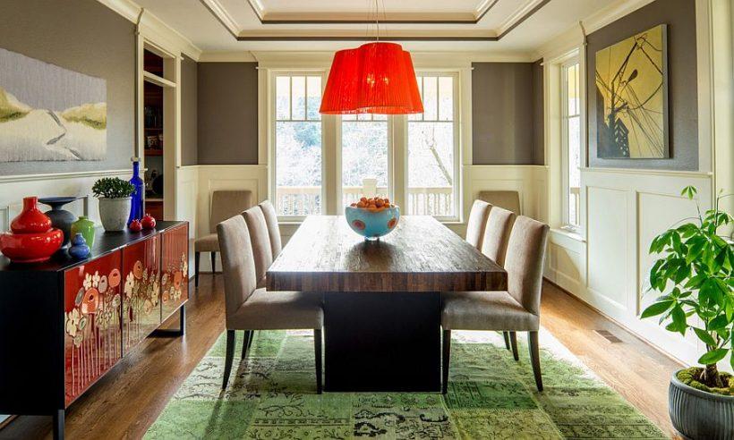 Farebný spôsob ukotvenie eklektický jedáleň
