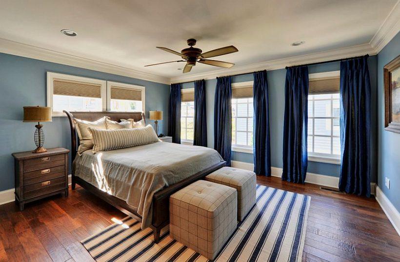 tende marina profondi per la camera da letto di transizione