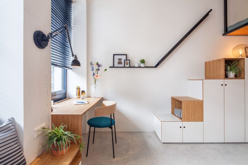 Cada rincón de la vivienda se maximiza hasta la empuñadura