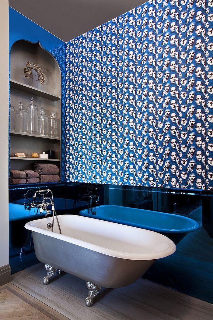 Izņēmuma veidā pievienojot zils uz vannas istabu