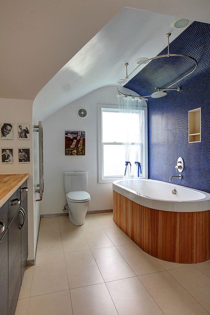 15 Eclectic Vannas ar Splash apburošā Blue