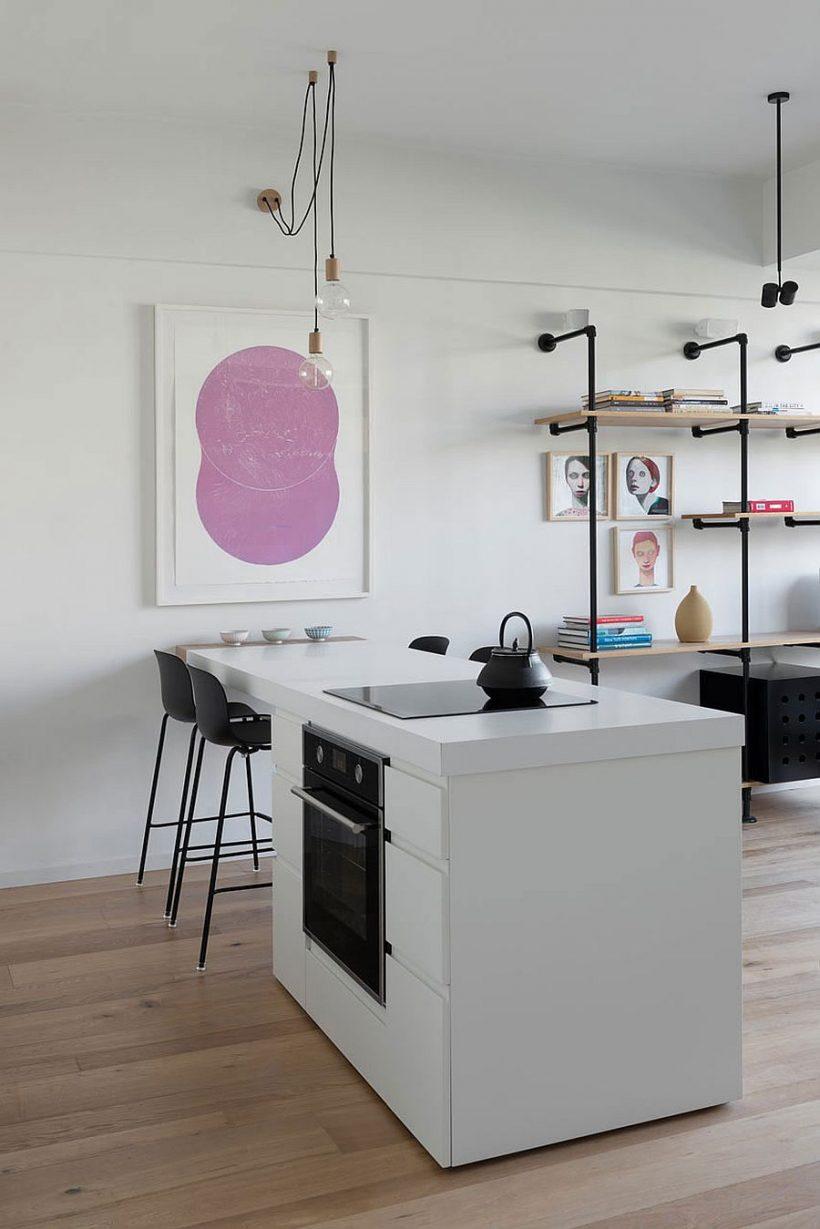 Väike Tel Aviv korter ühendab köök ja söögituba