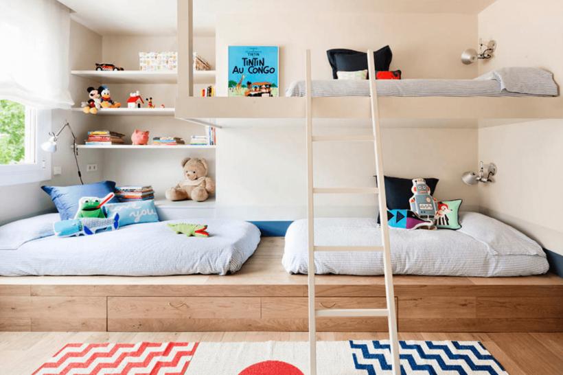 Creative Shared Guļamistabas Idejas moderna Bērnu istabā