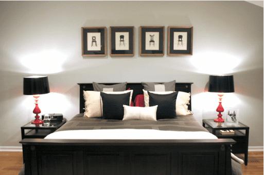 Червено и черно Спалня Вариант