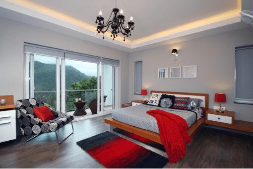 Как да използвате Red с Сивият цвят на апартамент