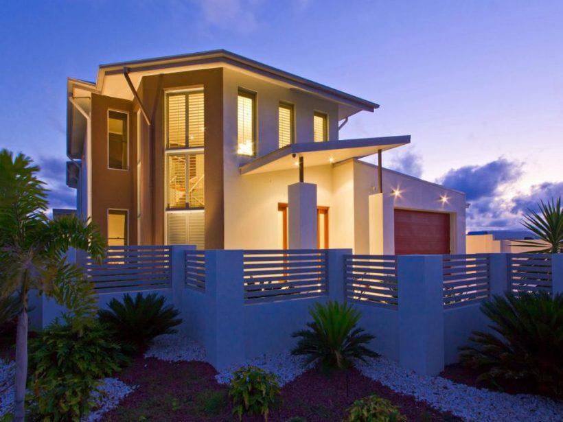 Home Exteriors moderno, construído para a vida contemporânea