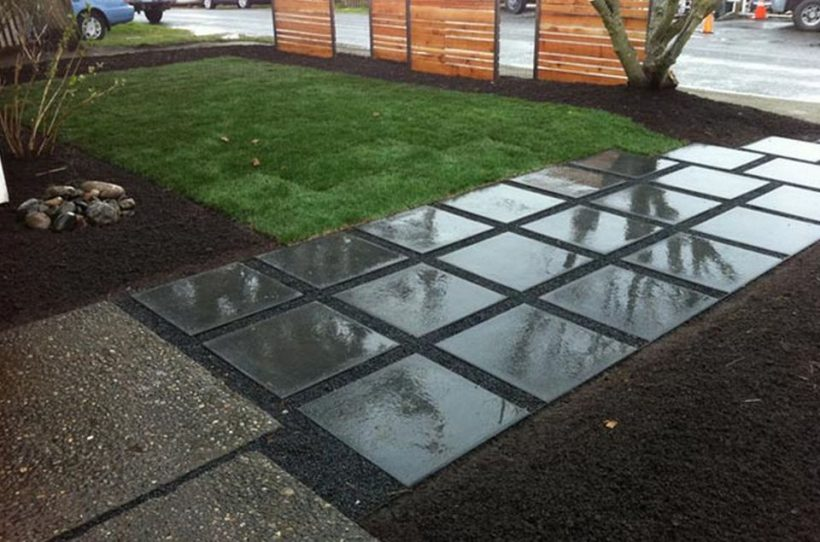 Regn-Glossy Concrete Front Square Walkway