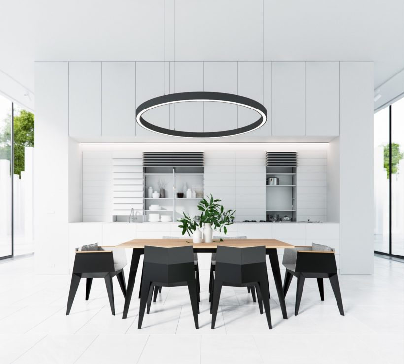 Geweldige Black & White Dining Rooms die werken Hun Monochrome Magic