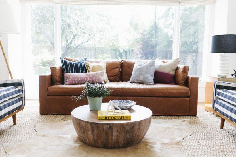 Amazing načine, kako okrasite z usnjeno pohištvo