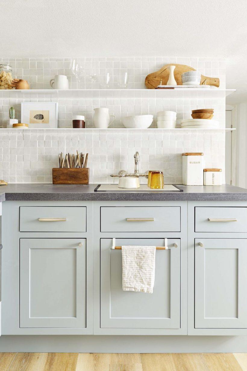 color de pared para armarios grises Las Ideas De Colores De Pintura De Cocina Para Ayudarle A